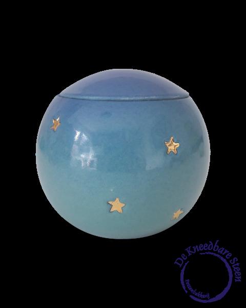 Baby urn met gouden sterren GB