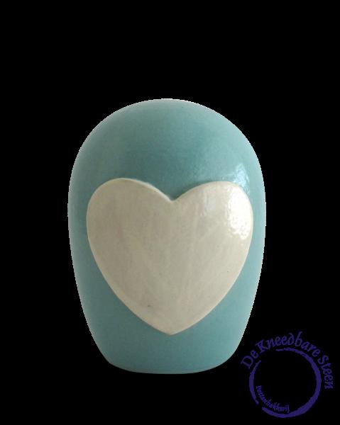 Baby urn met hart (mat)