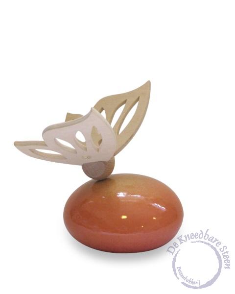 Baby urn met vlinder oranje*