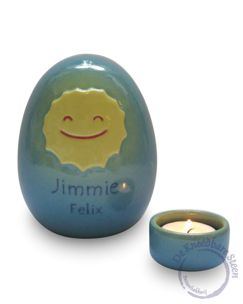 Baby urn voor Jimmie