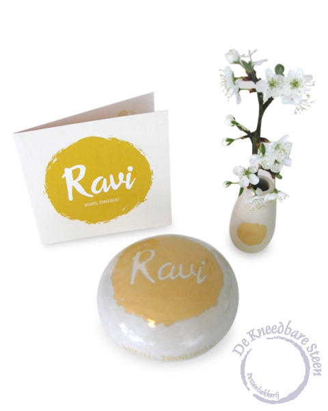 Baby urn voor Ravi