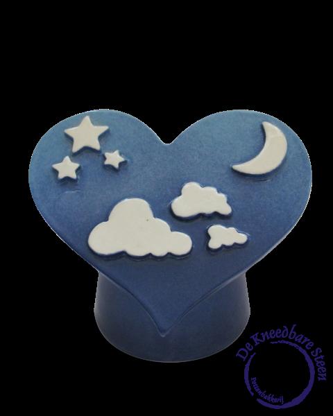 Baby urn met wolkjes en sterren