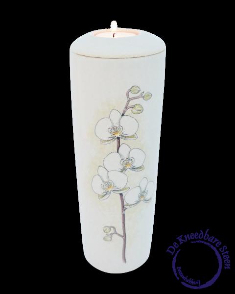 Cilinder urn met Orchidee