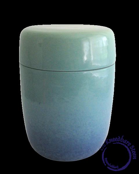 Cilinder urn met kleuren nevel