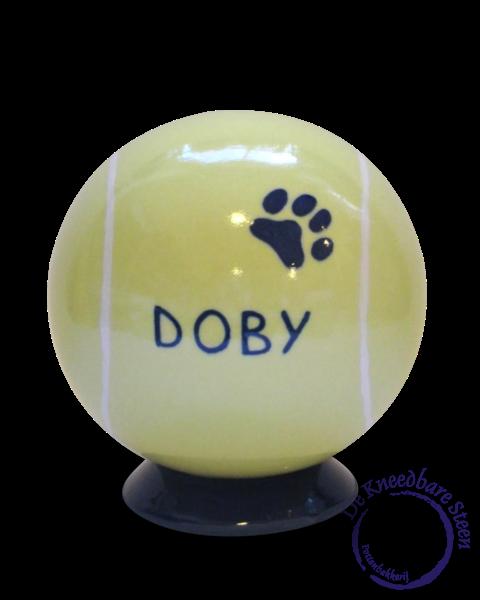 Honden urn Doby (hondenurn tennisbal)