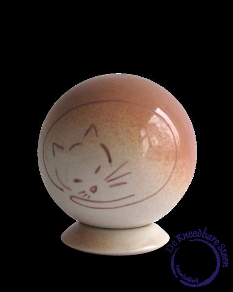 Katten urn wit/rood