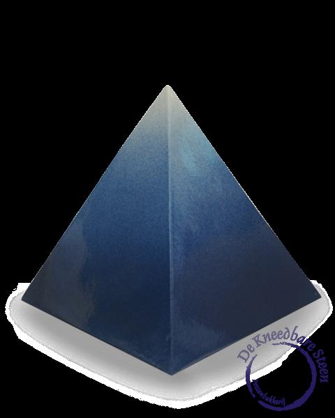 Piramide urn blauw