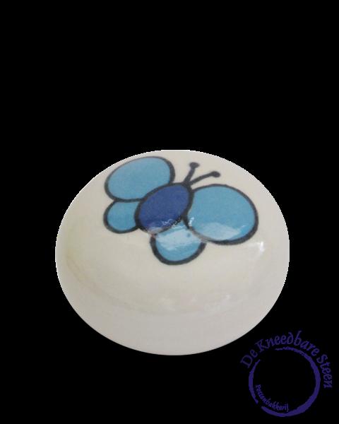 Prematuur urn Amelius vlinder blauw