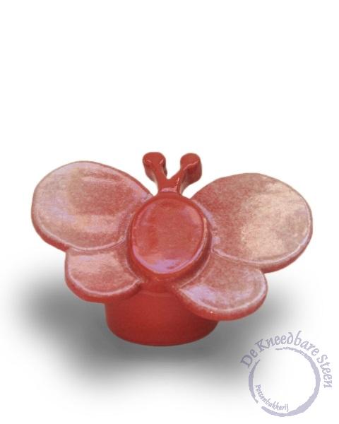 Prematuur urn Amelius vlinder rood