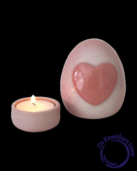 Prematuur urn hartje roze*