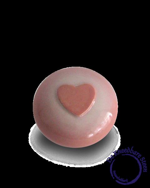 Prematuur urn met hart roze*