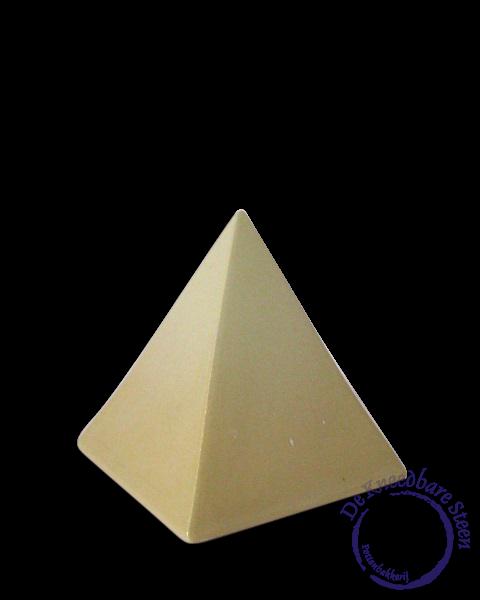 Piramide urntje geel