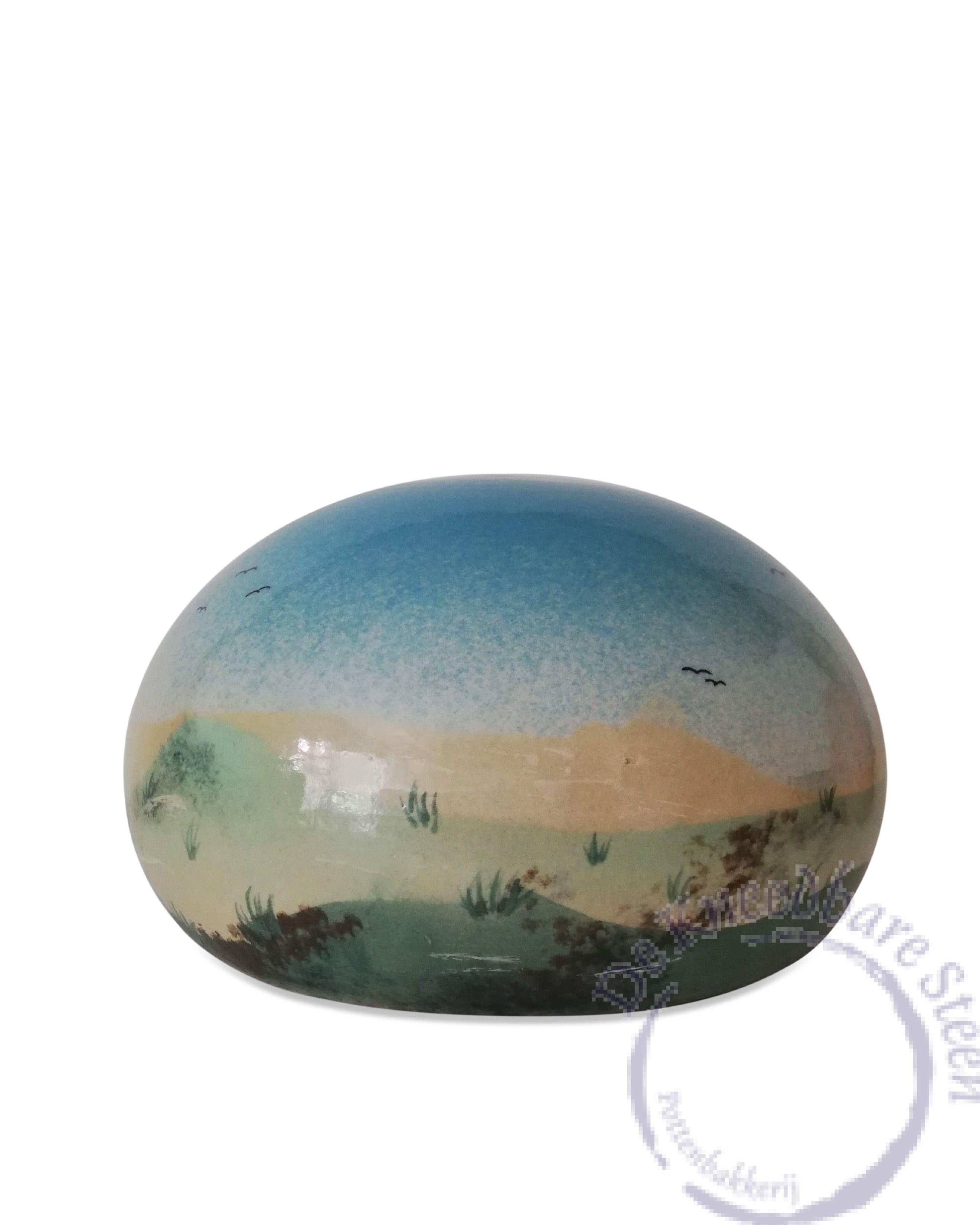 urn met panorama landschap[