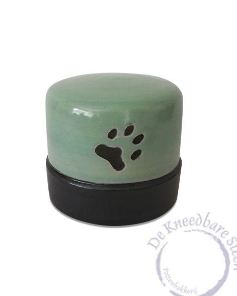 Katten urn met pootafdrukjes