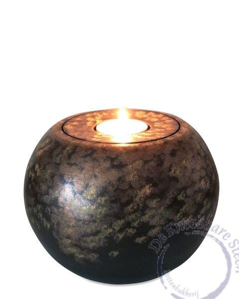 Bolronde urn met lichtje