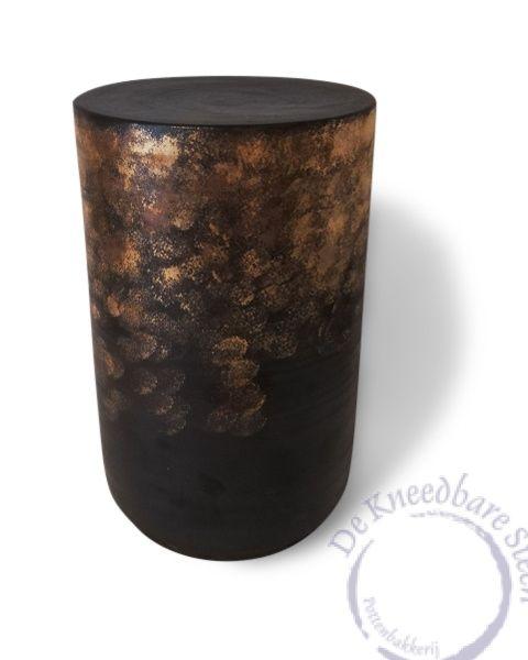 Cilinder urn goud en koperluster
