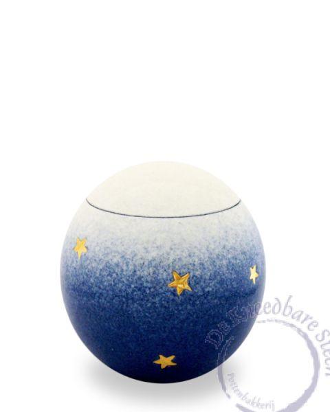 prematuur urn met gouden sterren