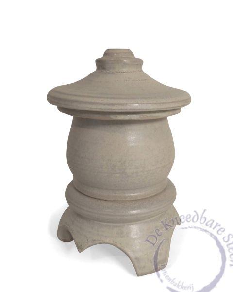 mini urn tempel mat grijs