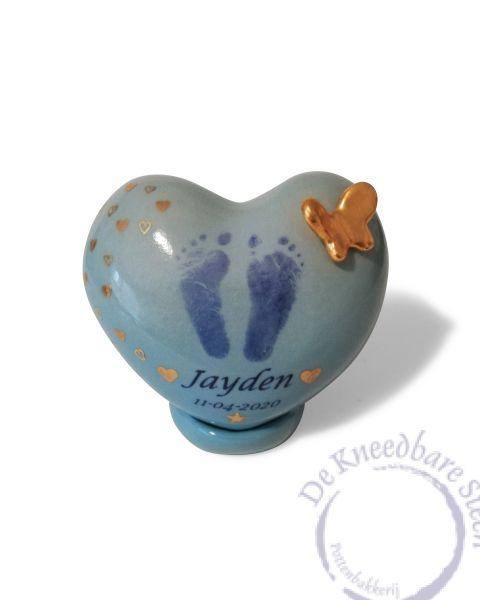 Baby urn voor Jayden (eigen ontwerp)