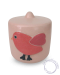 baby urn met vogel